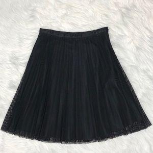 Calvin Klein perforated black pleated skirt Sz 8